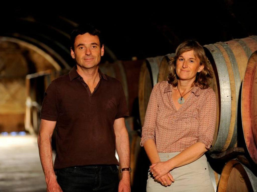 Anne et François Collard du Château Mourgues du Grès
